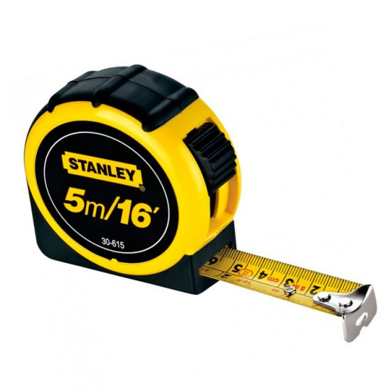 Trena 5 metros  x 19mm Global emborrachada - 30-615 - Stanley